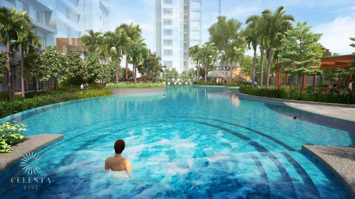 Hồ bơi jacuzzi tại dự án celesta rise Nhà Bè