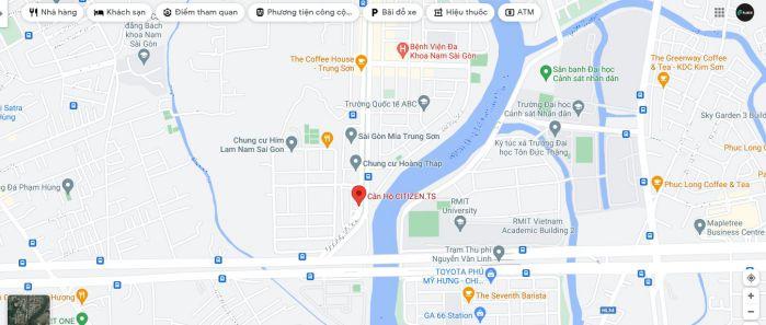 Chung cư Chung cư citizen Trung Sơn có vị trí mặt tiền đường 9A khu dân cư Trung Sơn