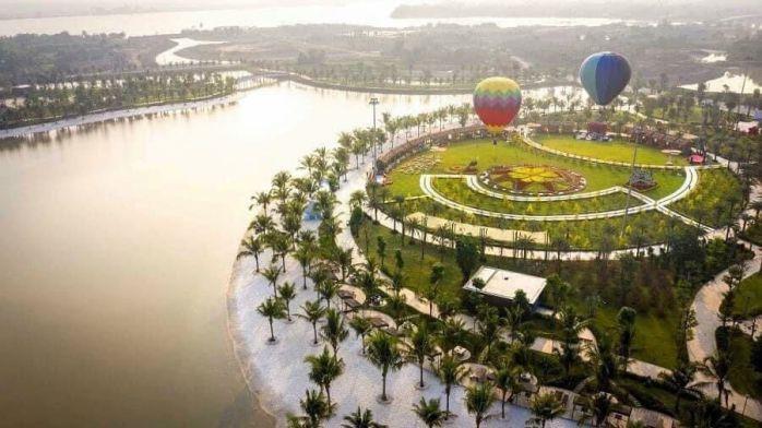 Công viên 36ha Vinhomes Grand Park nhìn từ trên cao