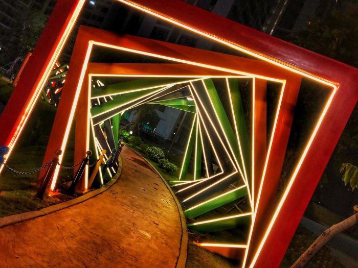 Công viên ánh sáng Vinhomes Grand Park về đêm