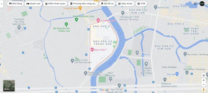Chung cư Sài Gòn Mia có vị trí tại mặt tiền đường 9A khu dân cư Trung Sơn