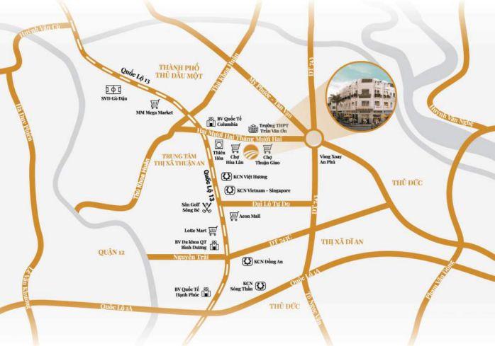 Vị trí dự án Lộc Phát Residence
