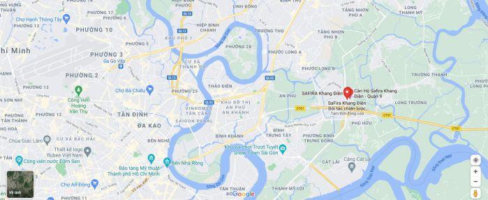Vị trí Safira Khang Điền Quận 9