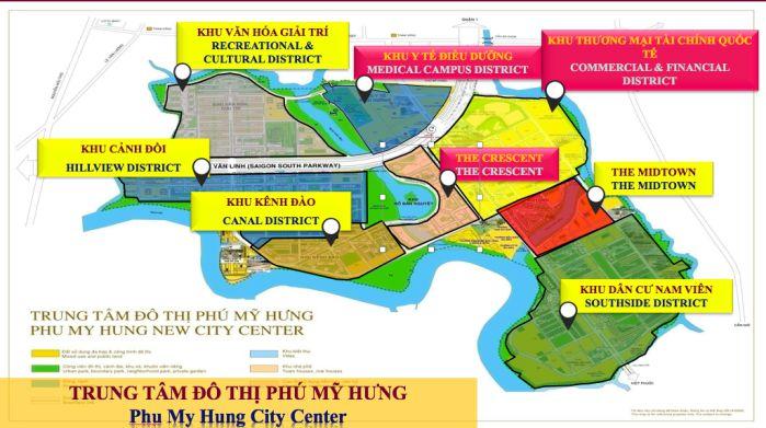 mặt bằng tổng thể khu Phú Mỹ Hưng