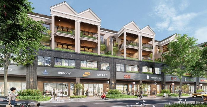 khu nhà phố shophouse dự án Dự án GS Metrocity Nhà B