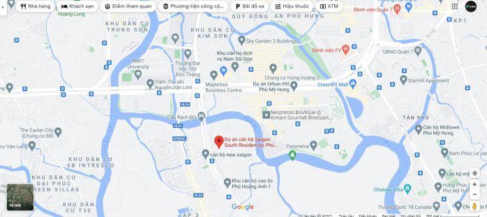 Chung cư Sài Gòn South residences Nhà Bè có vị trí Nguyễn Hữu Thọ