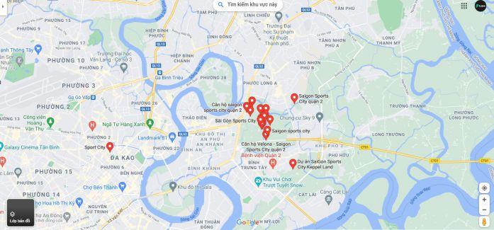 Dự án Saigon Sports City ngay sát với nút giao Mai Chí Thọ và cao tốc Long Thành Dầu Giây