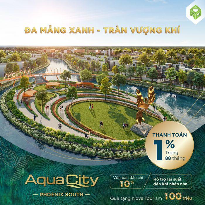 Aqua city novaland đa mảng xanh tràn vượng khí