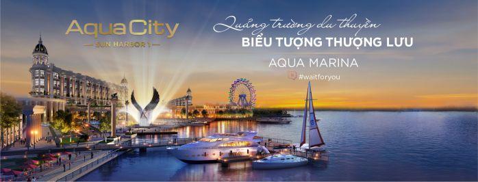 Aqua city có bến du thuyền đẳng cấp giúp cư dân di chuyển bằng đường sông thuận tiện