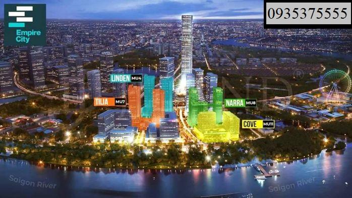 Hiện tại Empire city đã bàn giao căn hộ 4 tòa tháp gồm có Linden, Tilia, Narra, Cove