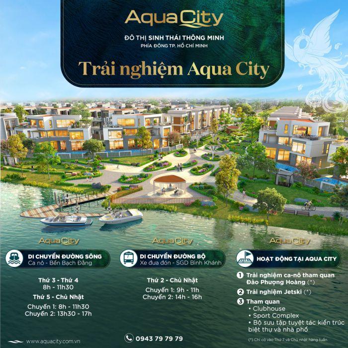 Dự án Aqua city Đồng Nai này được bao bọc bởi 3 con sông lớn